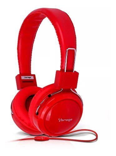Audífono diadema vorago super bass manos libres color rojo