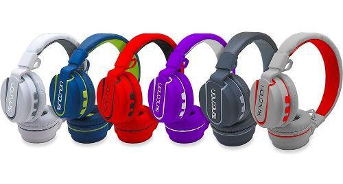 Audifonos diadema bluetooth manos libres extra bass 5 necnon