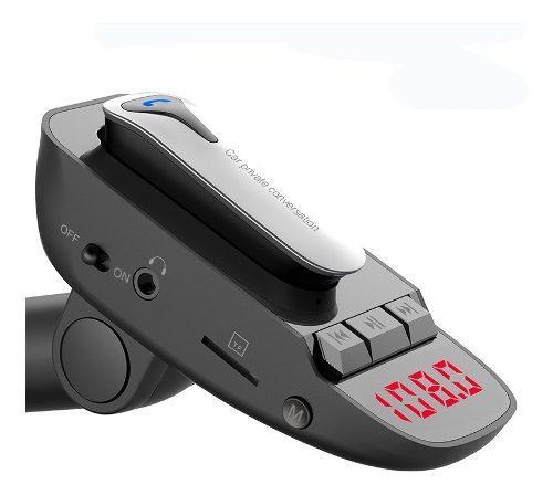 Bluetooth transmisor fm con auricular para manos libres v4.2