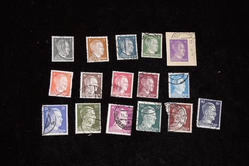 16 timbres postales adolf hitler segunda guerra mundial