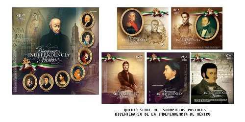 2010 bicentenario independencia d méxico 11 sellos serie