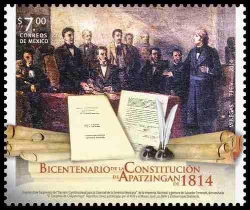 2014 bicentenario d constitución apatzingán de 1814 sc
