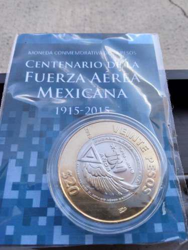 5 monedas 20 pesos aérea, morelos dniii, marina
