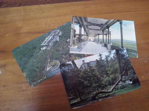 Antiguas tarjetas postales castillo de chapultepec.