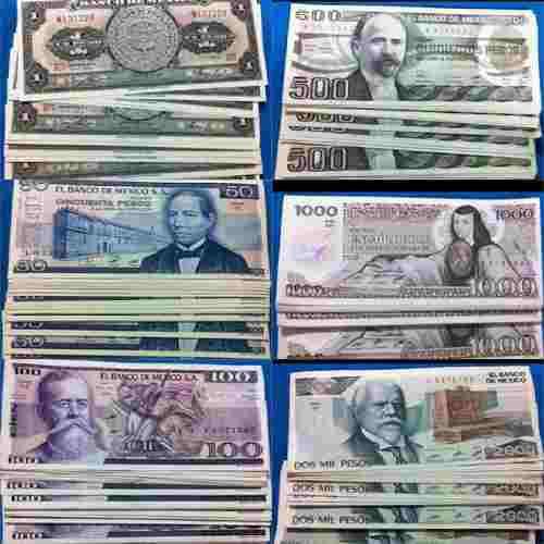 Billetes mexicanos antiguos, sin circular. 100% originales..