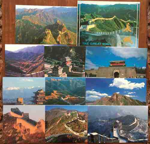 China muralla lote de tarjetas postales atractivas ganga