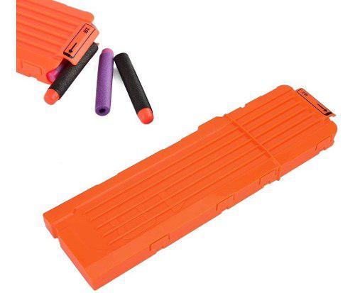 Clip cargador nerf 18 dardos naranja