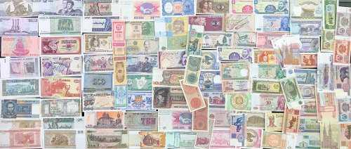 Colección 100 billetes mundiales, todos nuevos sin