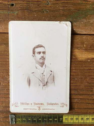 Fotografia antigua caballero autografiada fecha de 1897