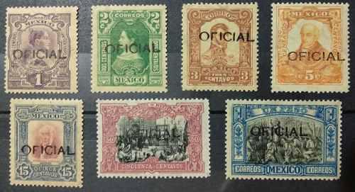 Mexico 1910 independencia oficiales sc. o75-o84 nuevos raros