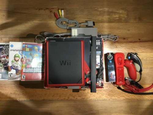 Nintendo wii mini color rojo