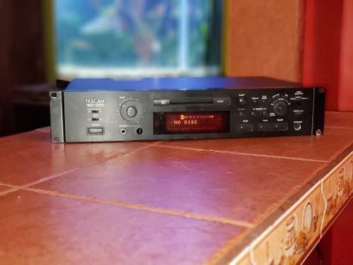 Reproducto minidisc tascam md-350 grabador y reproductor