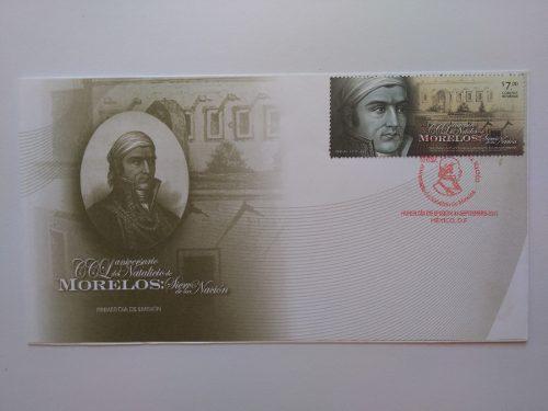 Sobre moneda & tarjeta metro 200 años josé ma. morelos