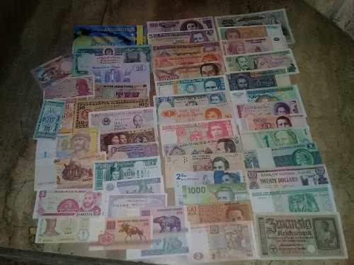 Wow 50 billetes extranjeros envio gratis