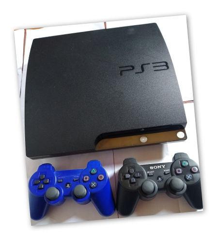Play station 3 slim 120 gb + 2 mandos