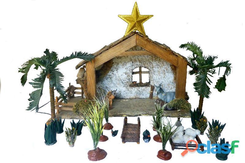Pesebre navideño, figuras navideñas, 34 figuras