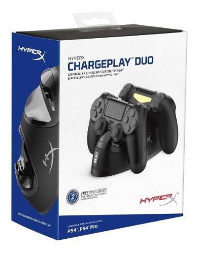 Cargador para controles ps4 chargeplay duo hx-cpdu-a hyperx