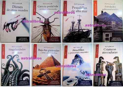 Colección 8 libros h.p. lovecraft cuentos de terror