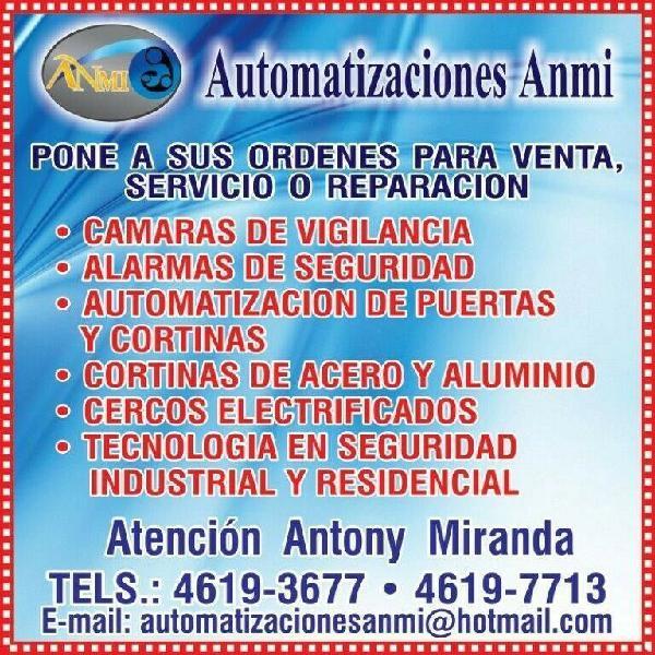 Cortinas y portones automaticos