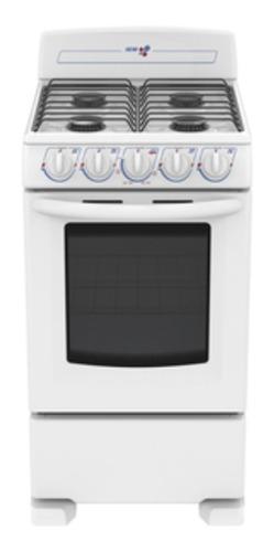Estufa blanca de 4 quemadores iem con horno ei5020bapbo new