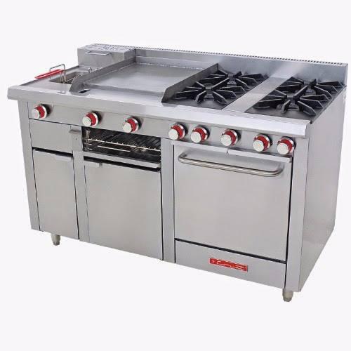 Estufa coriat multichef master t 4 quemadores abiertos horno