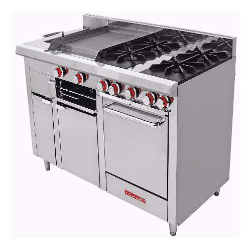 Estufa coriat multichef turbo master p 4 quemadores horno