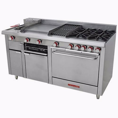 Estufa coriat multiple master e 4 quemadores abiertos horno