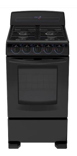 Estufa negra de 4 quemadores iem con horno em5020bapno nuevo