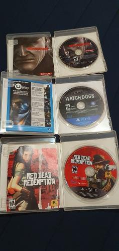 Paquete juegos ps3 metal gear red death redemption watchdog