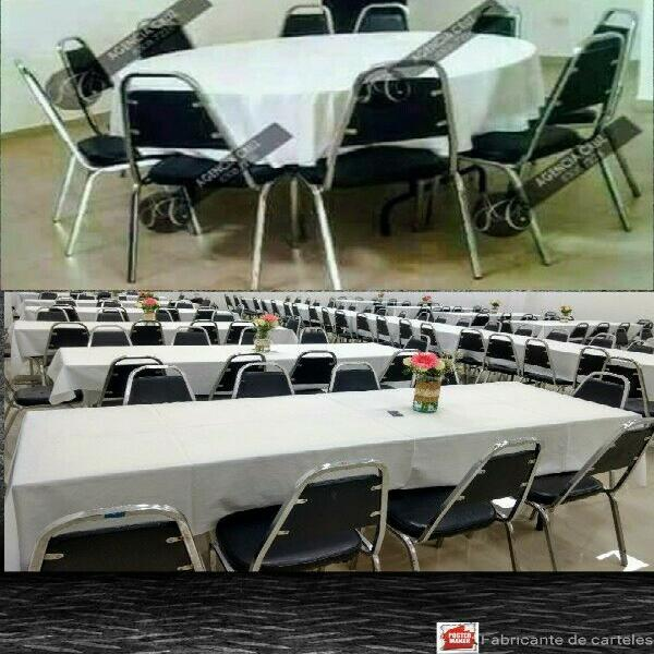 Renta sillas mesas adulto-infantil manteles capelos etc.