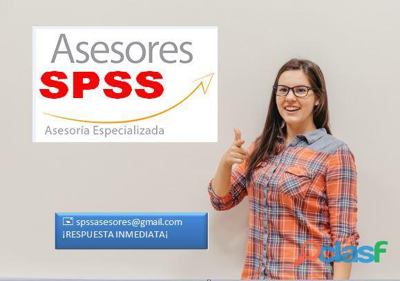 CLASES ESTADÍSTICA  TRABAJOS SPSS UNIVERSIDAD APOYO EN TESIS