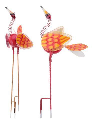 2 x nerdy cuellos metal pájaro jardín esta herramienta