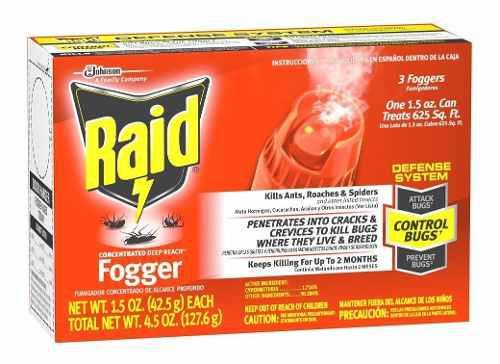 Set fumigador concentrado de alcance profundo raid 3 pz