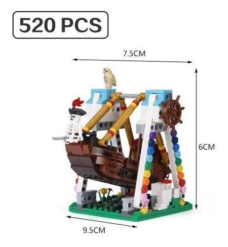 Barco pirata - 300+ parque de atracciones de la rueda de la