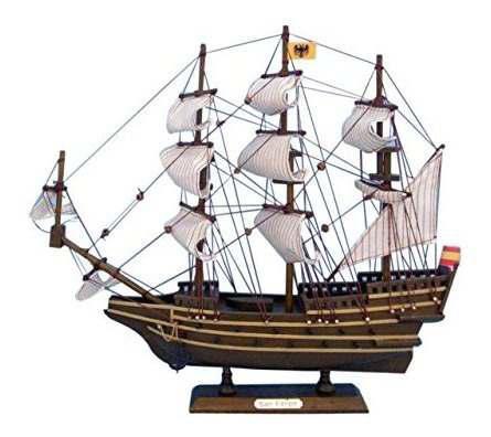 Hampton marine de madera san felipe tall modelo de barco, 14