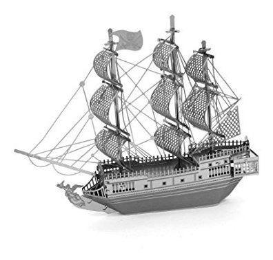 Metalearth 3d metal modelo negro perla barco pirata
