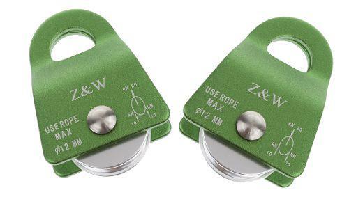 2pcs 20 kn escalada de aluminio polea de propósito general