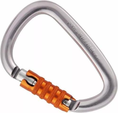 Mosquetón hms petzl william triact lock escalada rapel