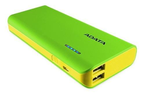 Adata power bank bateria portátil pt100 10000mah colores