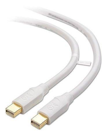 Mini displayport macho a mini displayport cable blanco