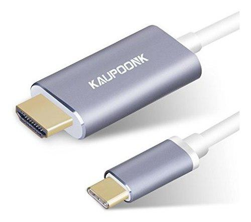 Usb c a hdmi cable kaupoonk usb 31 tipo c a cable hdmi para