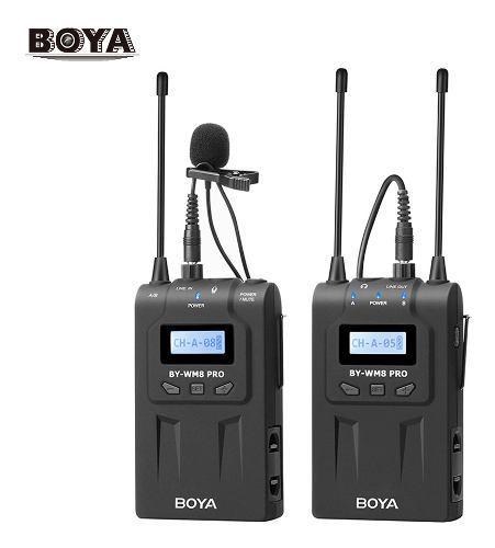 Boya by-wm8 pro-k1 uhf sistema de micrófono inalámbrico