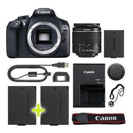 Canon eos d 1300 / t6 cámara digital slr con lente 18-55mm