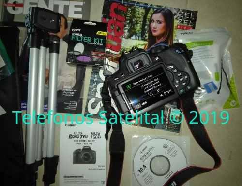 Canon t6i eos rebel slr camera wifi kit para hacer videos