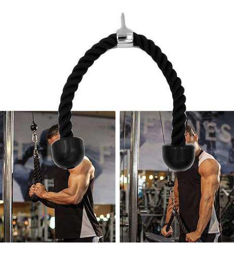 Triceps abdominales crunches cuerda tire hacia abajo muscula