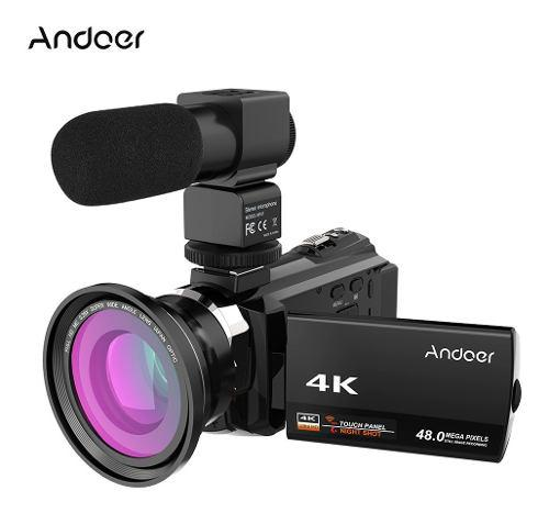 Videocámara digital andoer 4k 1080p 48mp wifi