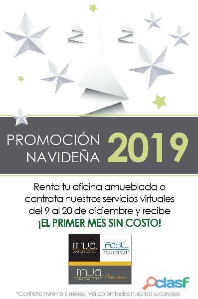 Renta de oficinas físicas y virtuales.promoción diciembre