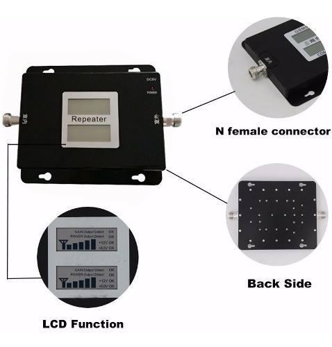 Amplificador señal celular antena doble frecuencia 2100mhz