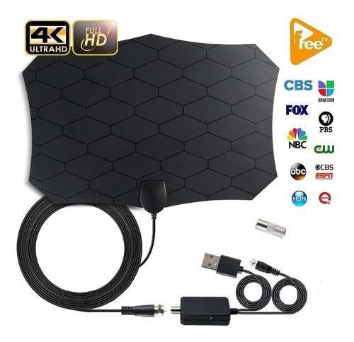 Amplificador senal antena tv de 1080p 4k hd para interiores