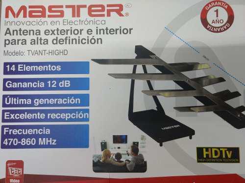 Antena alta definición interior exterior master tvant-highd